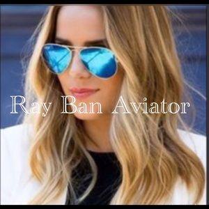 💯Ray Ban Sunglasses blue Aviator